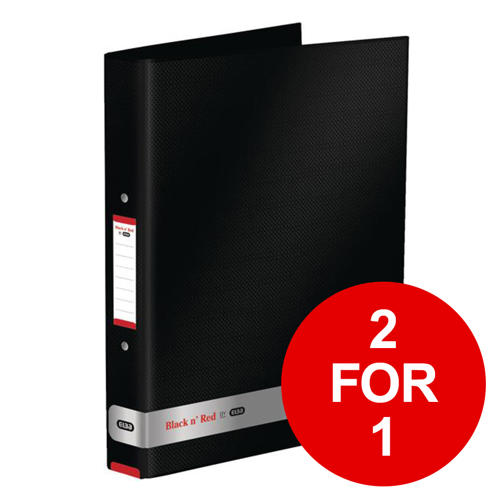 Black N Red Ring Binder Ref 400051510-XX3 [2 For 1] Jan-Dec 2019