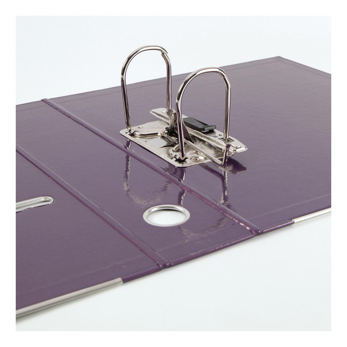 Elba Classy Lever Arch File A4 70mm Metalic Purple Ref 400021021 [3 for 2] Jan-Dec 2019