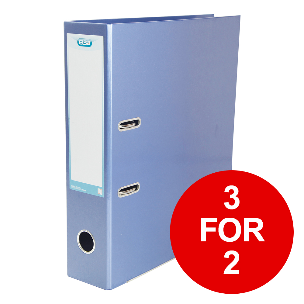 Elba Classy Lever Arch File A4 70mm Metalic Blue Ref 400021023 [3 for 2] Jan-Dec 2019