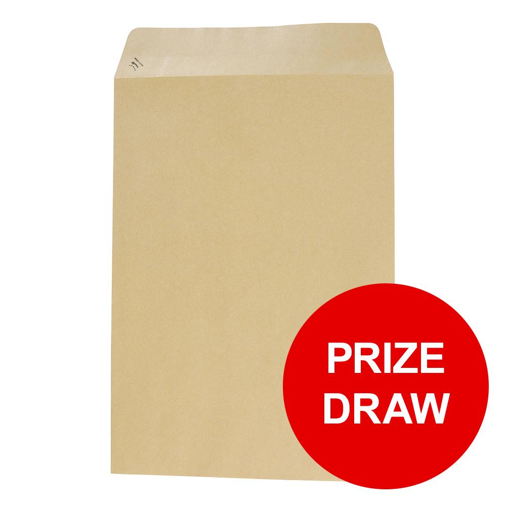Basildon Bond Envelopes C4 Pocket Peel and Seal Recycled 90gsm Manilla Ref C80191 Pack 250 PRIZE DRAW