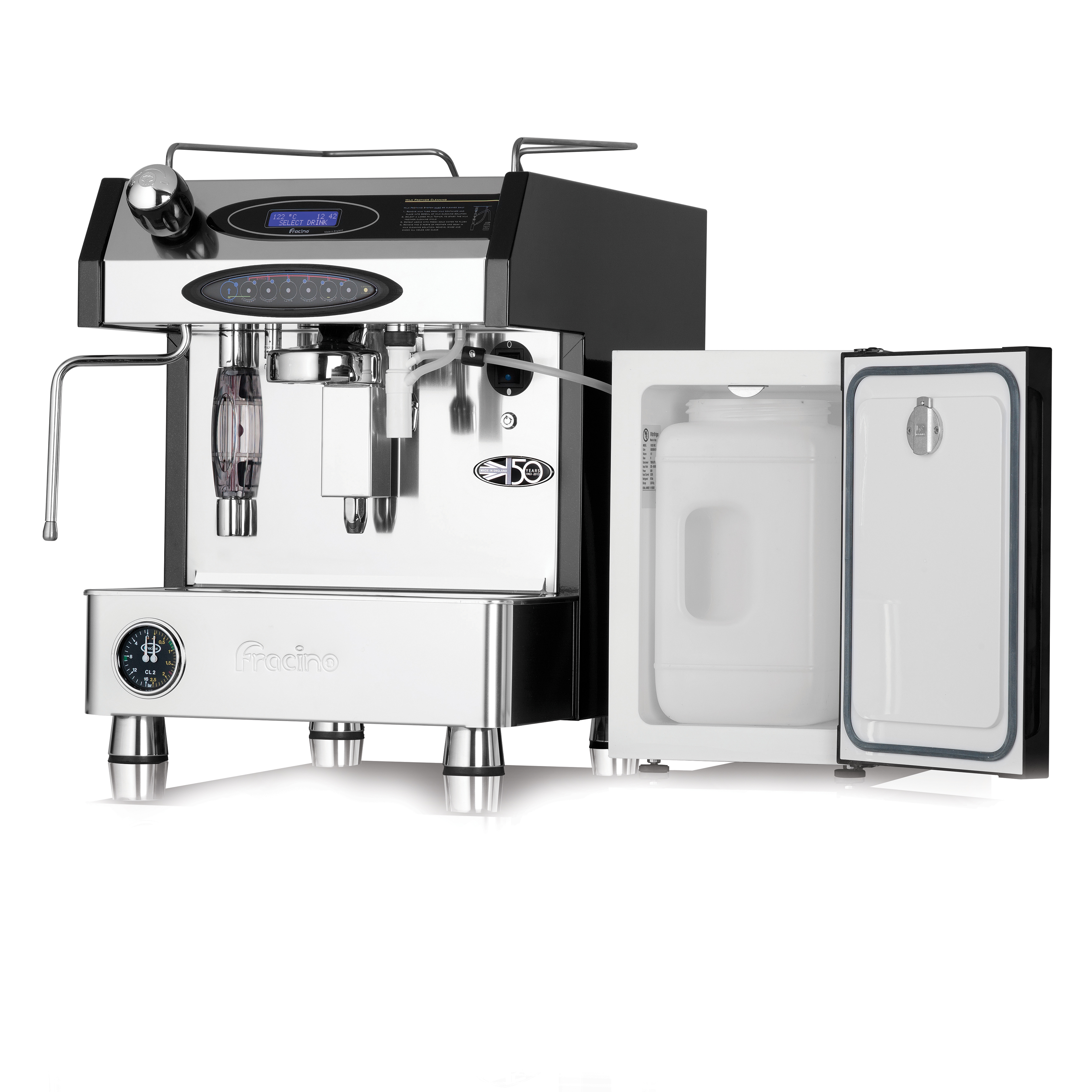 Fracino Velocino Espresso Coffee Machine Including 4.4Ltr Fridge Ref VELOCINO