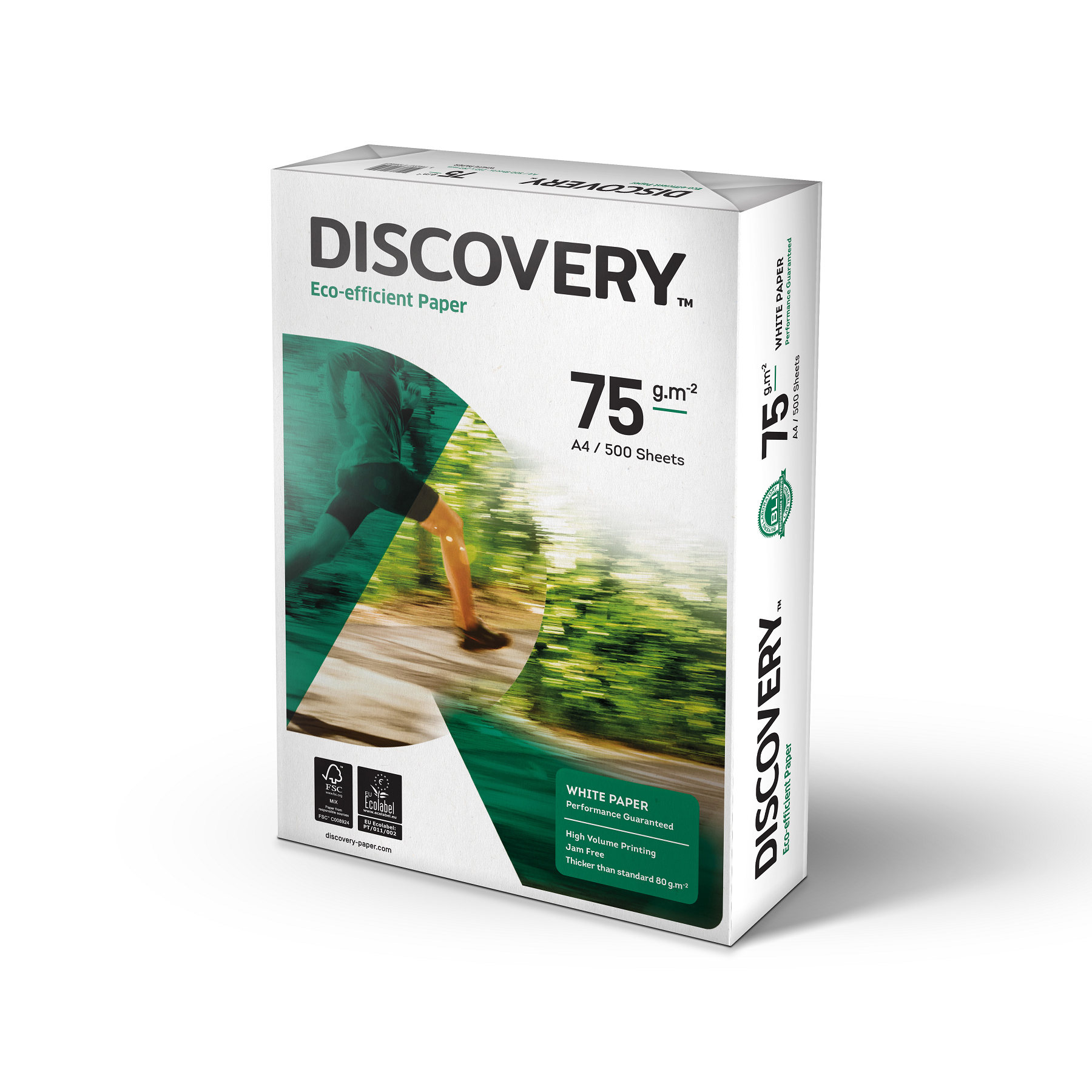 A4 Discovery Paper FSC 5x Ream-wrapped Pks 75gsm A4 White 5x500 Sheets