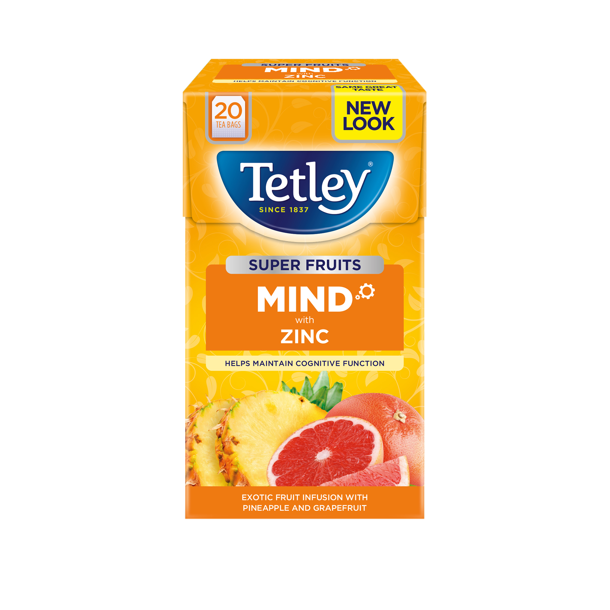 Tetley Super Green Tea BOOST Berry Burst with Vitamin B6 Ref 4621A Pack 20