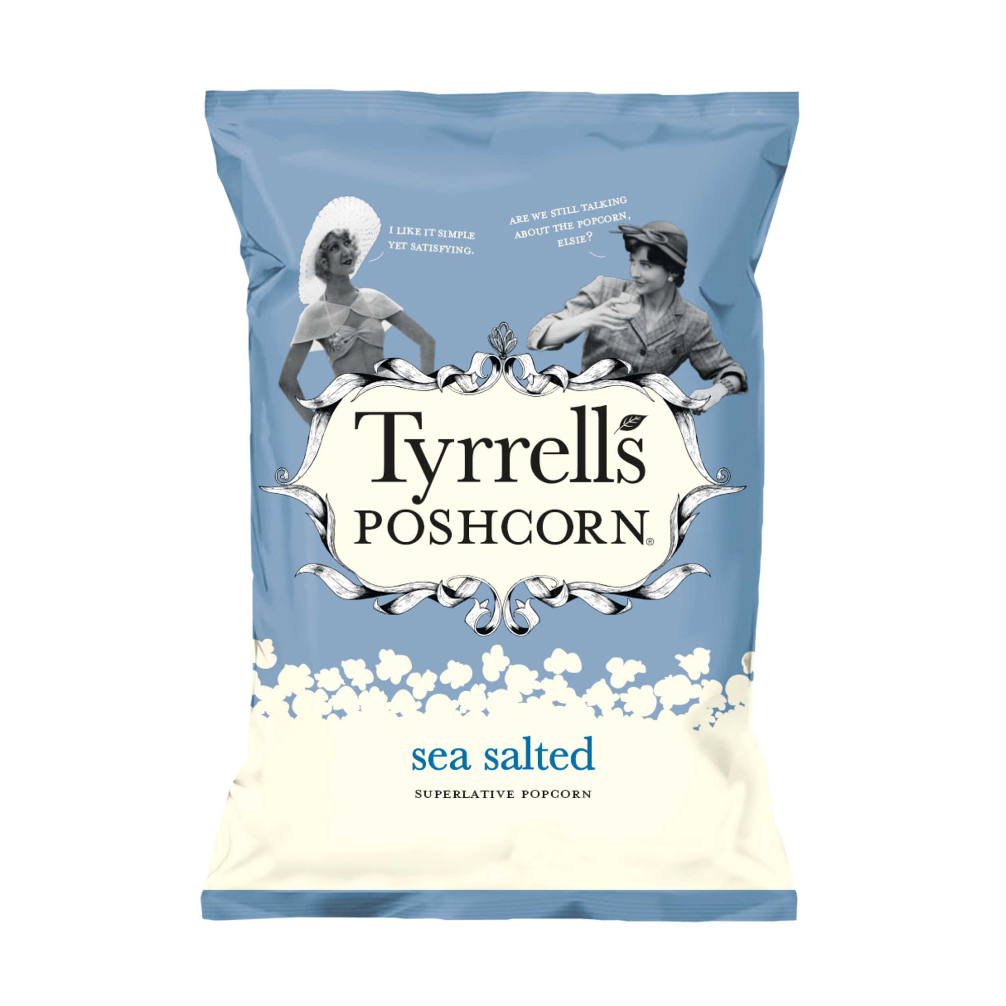 Breakfast / Snacks Tyrells Sea Salted Popcorn 70g Ref 701949 Pack 12
