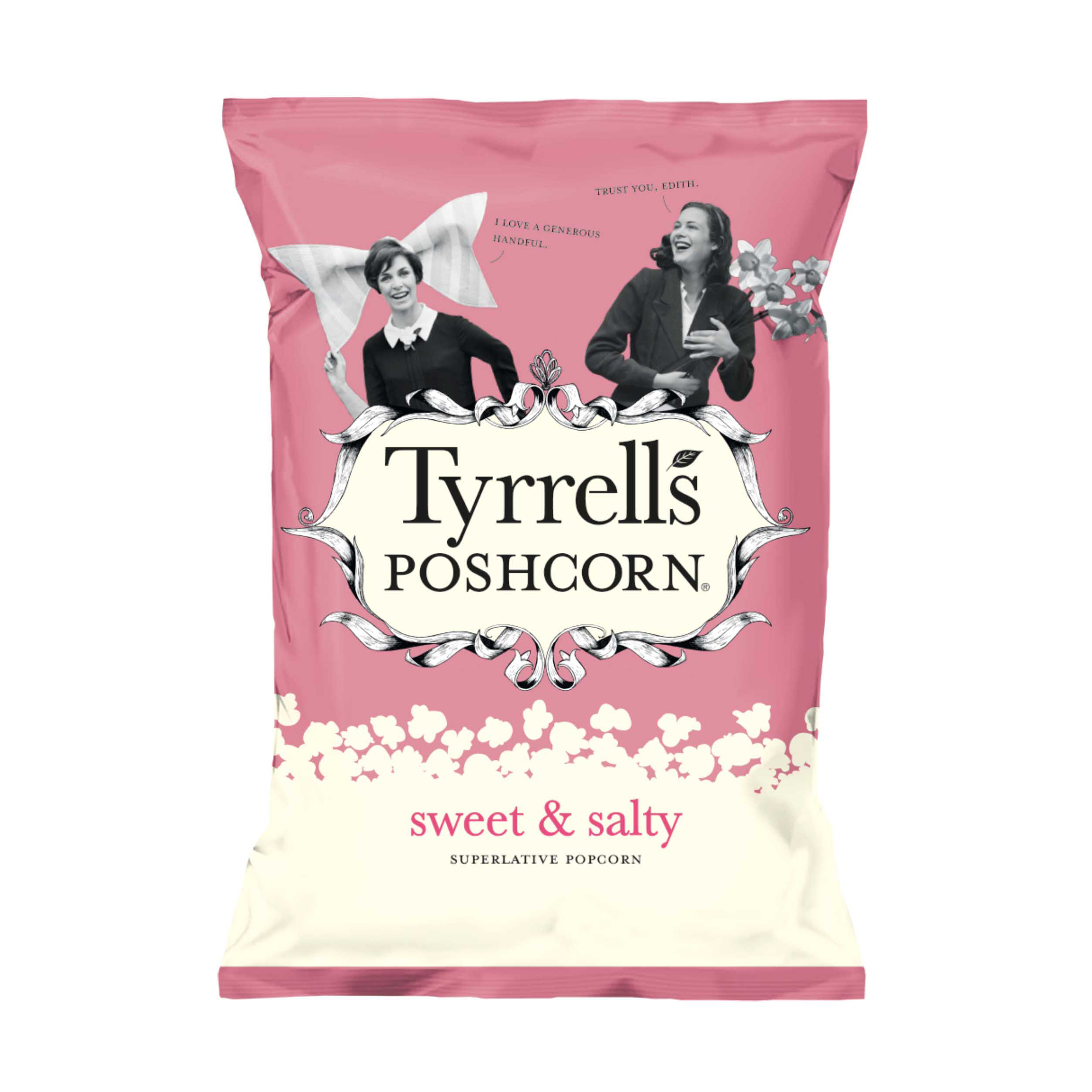Breakfast / Snacks Tyrells Sweet & Salted Popcorn 80g Ref 701950 [Pack 12]