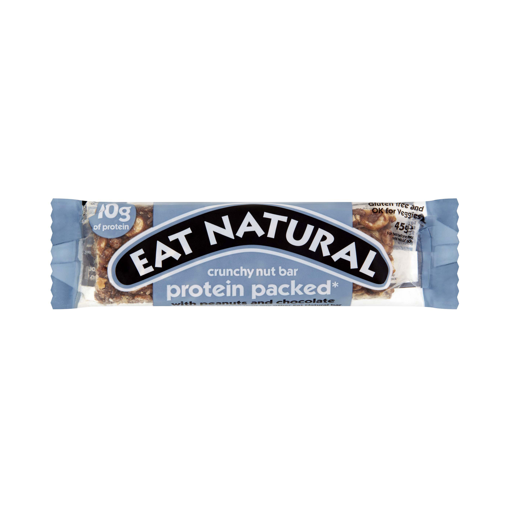 Breakfast / Snacks Eat Natural Crunchy Nut Bar Peanuts & Chocolate 45g Ref PRO [Pack 12]