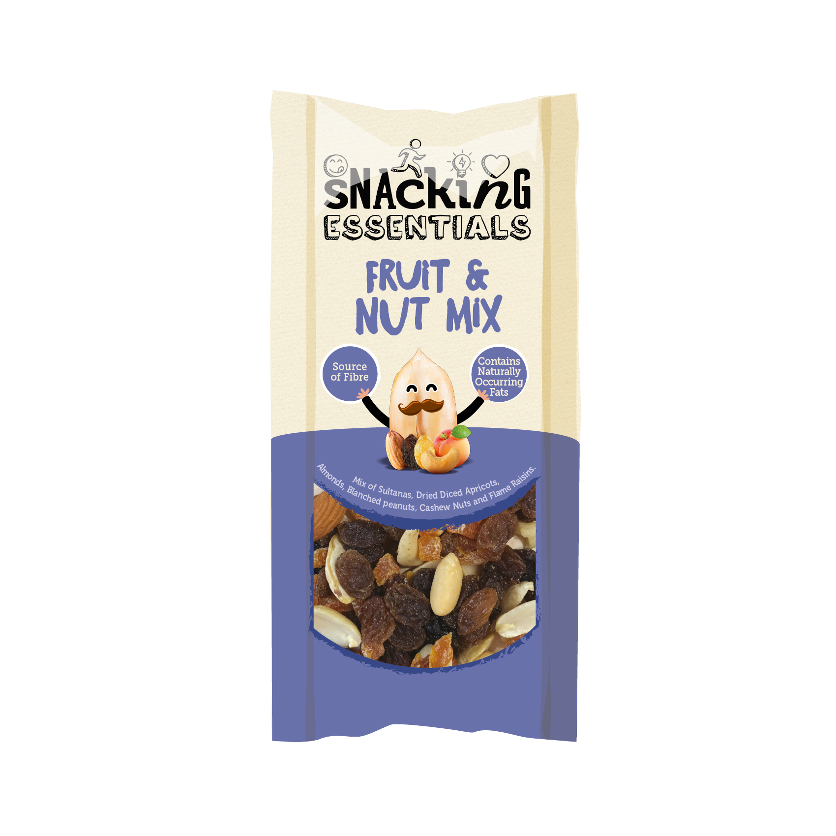 Snacking Essentials Fruit & Nut Mix Shot Packs Ref 508440 Pack 16