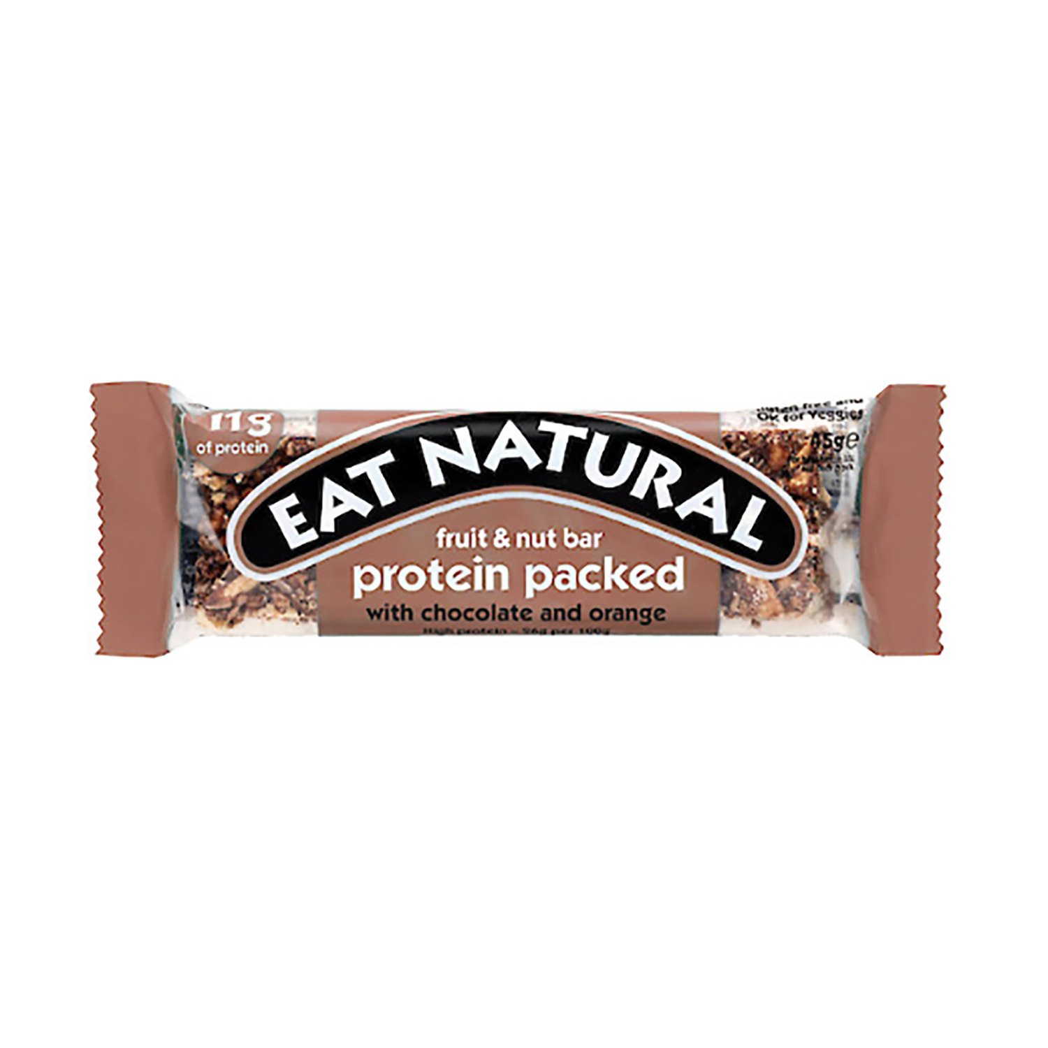 Breakfast / Snacks Eat Natural Fruit Nut Bar Chocolate & Orange 45g Ref PCO [Pack 12]