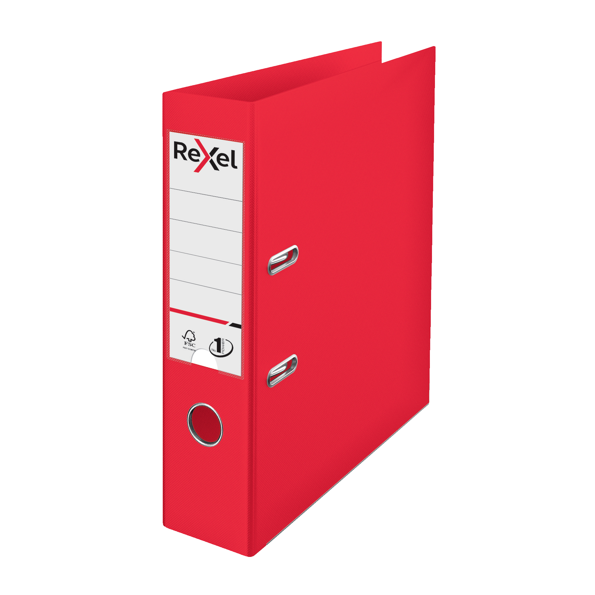 Lever arch file Rexel Choices LArch File PP 75mm A4 Red Ref 2115504
