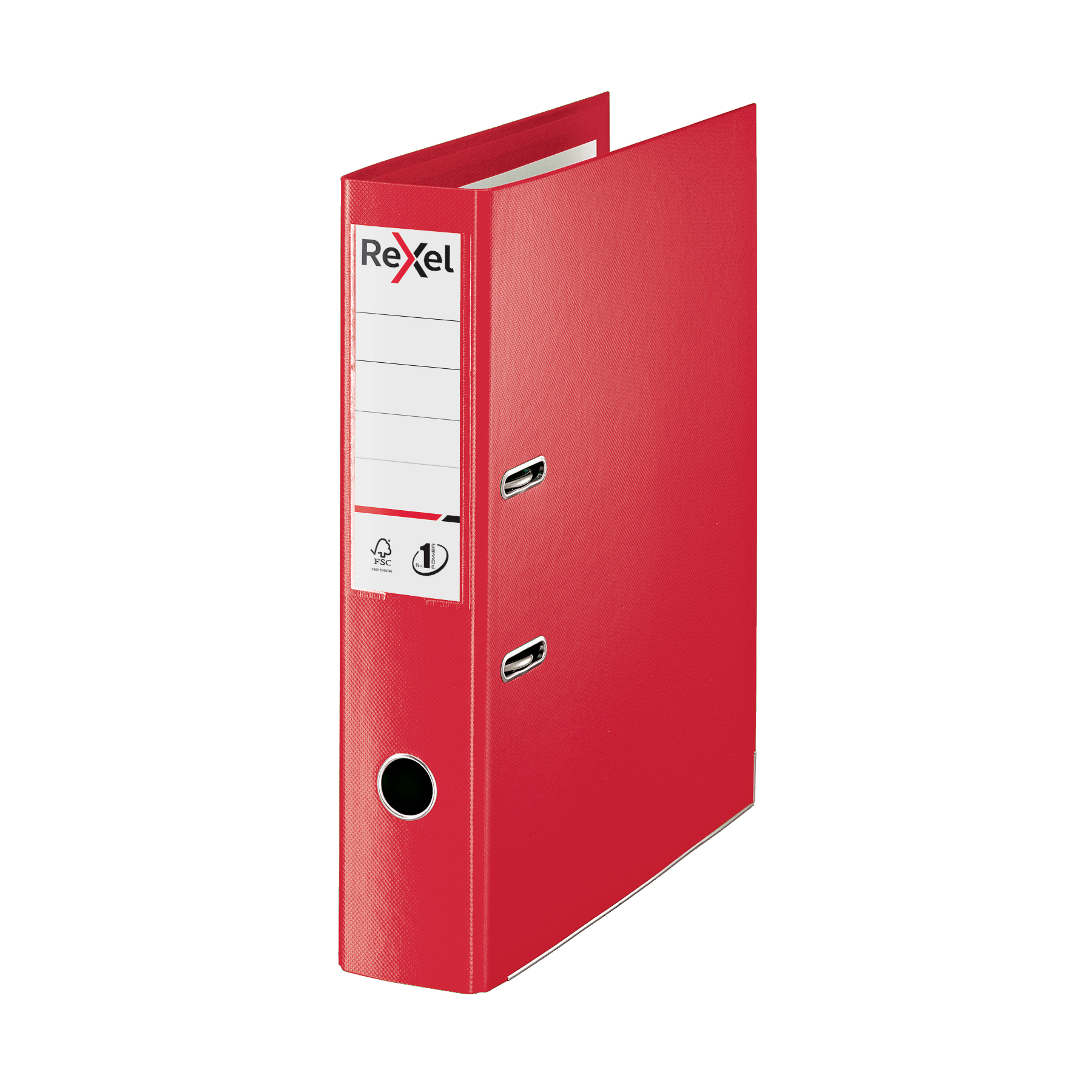 Lever arch file Rexel Choices LArch File PP 75mm FScap Red Ref 2115513