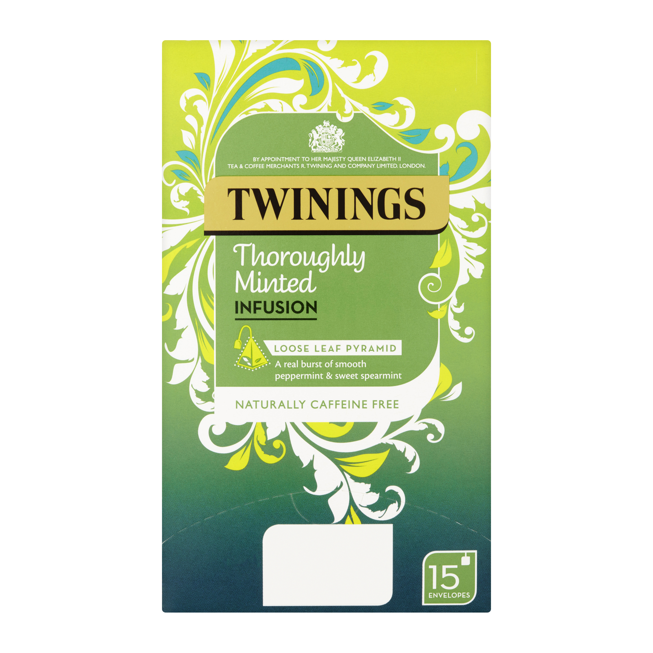 Tea bags Twinings Infusion Tea Bags Individually-wrapped Minted Ref 0403366 Pack 15