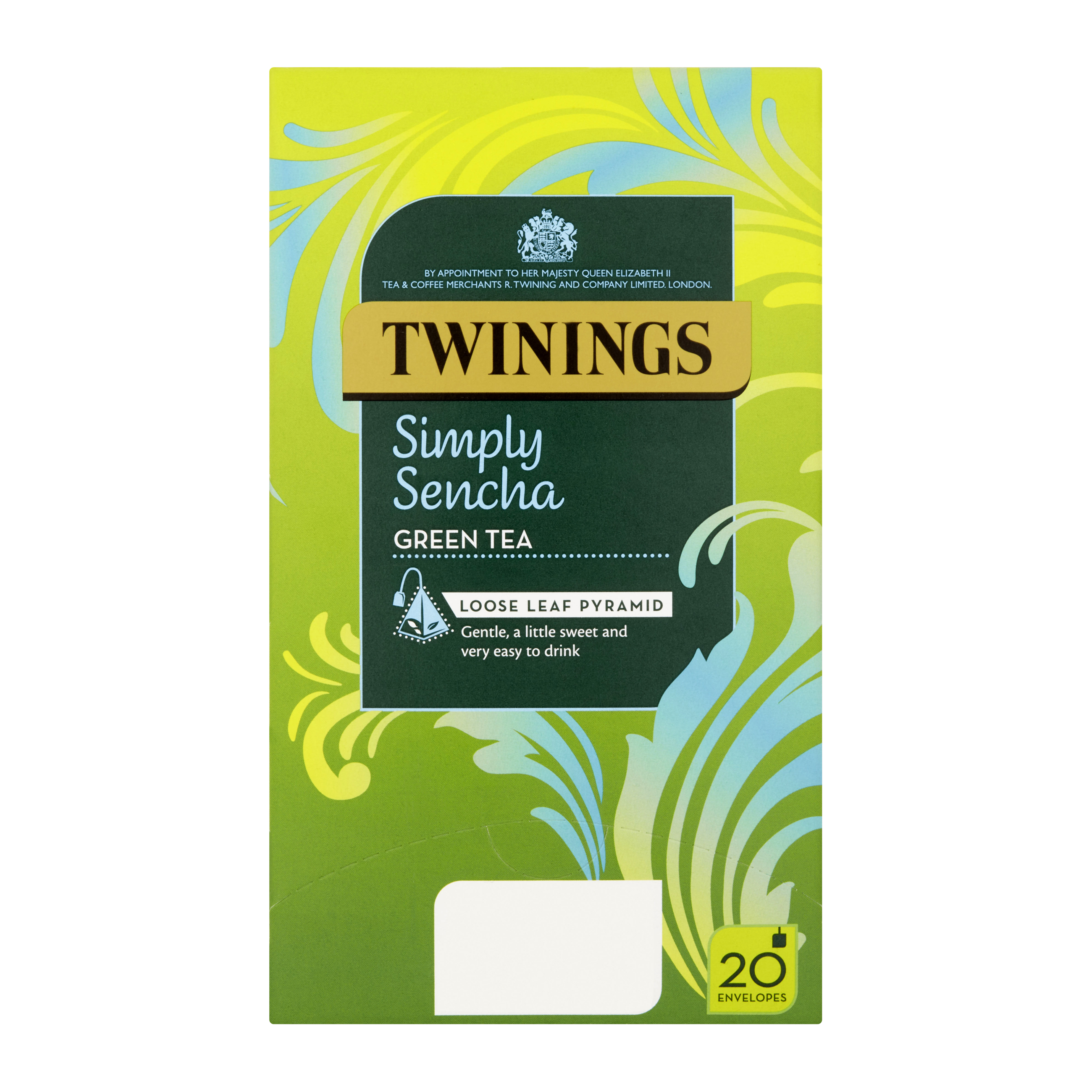 Tea bags Twinings Tea Bags Individually-wrapped Simply Sencha Ref 0403365 Pack 20
