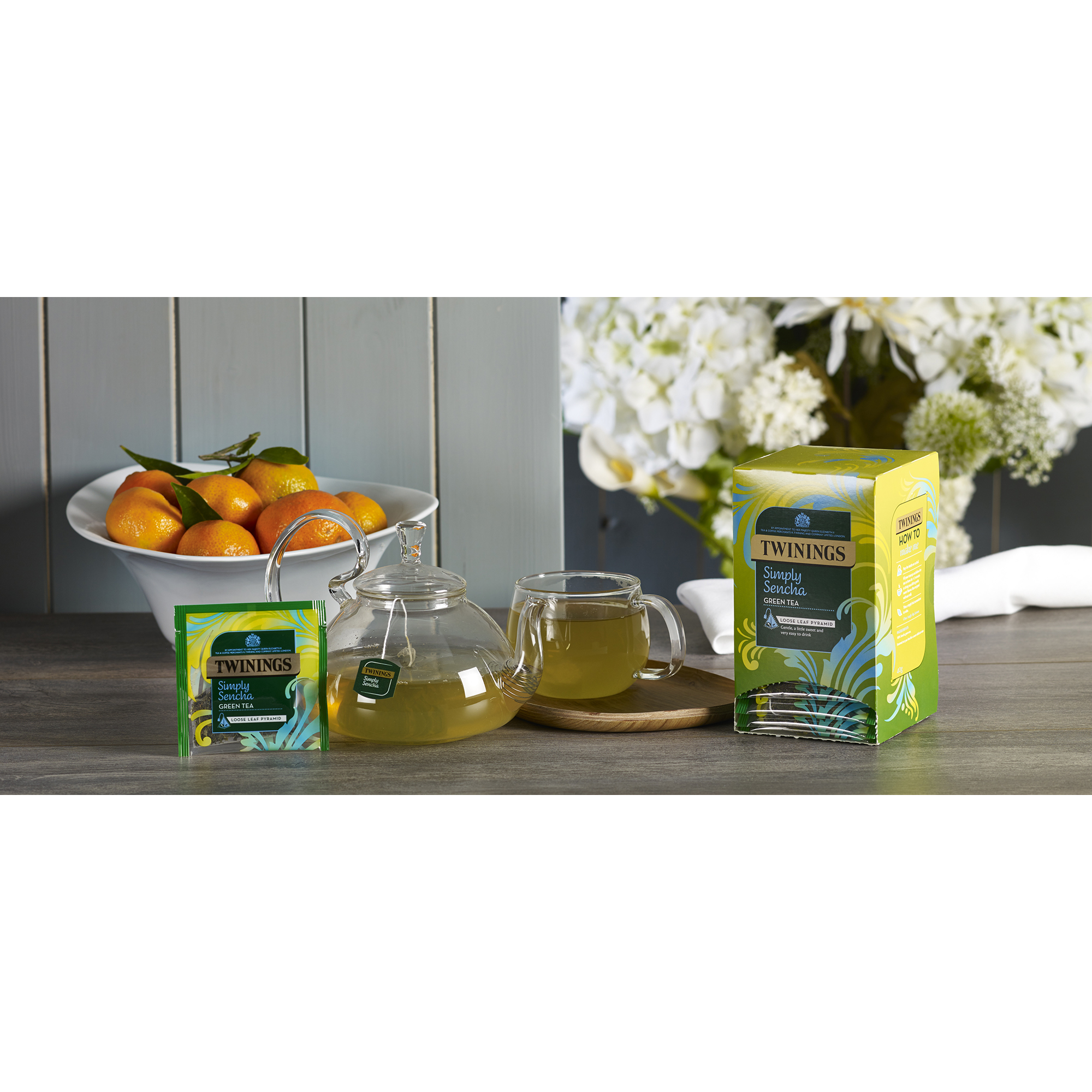 Twinings Tea Bags Individually-wrapped Simply Sencha Ref 0403365 [Pack 20]
