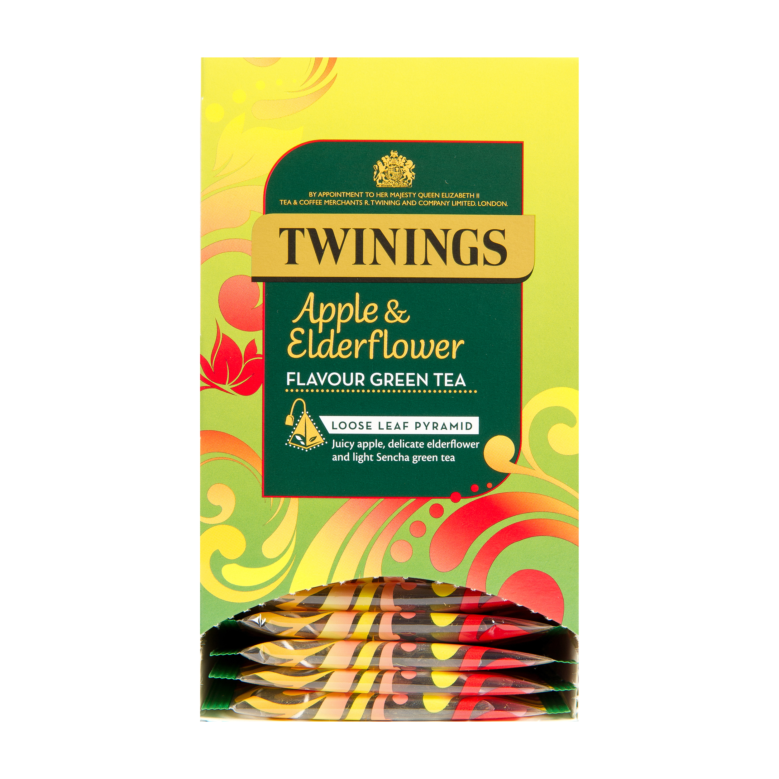 Twinings Tea Bags Individually-wrapped Apple & Elderflower Ref 0403367 [Pack 20]