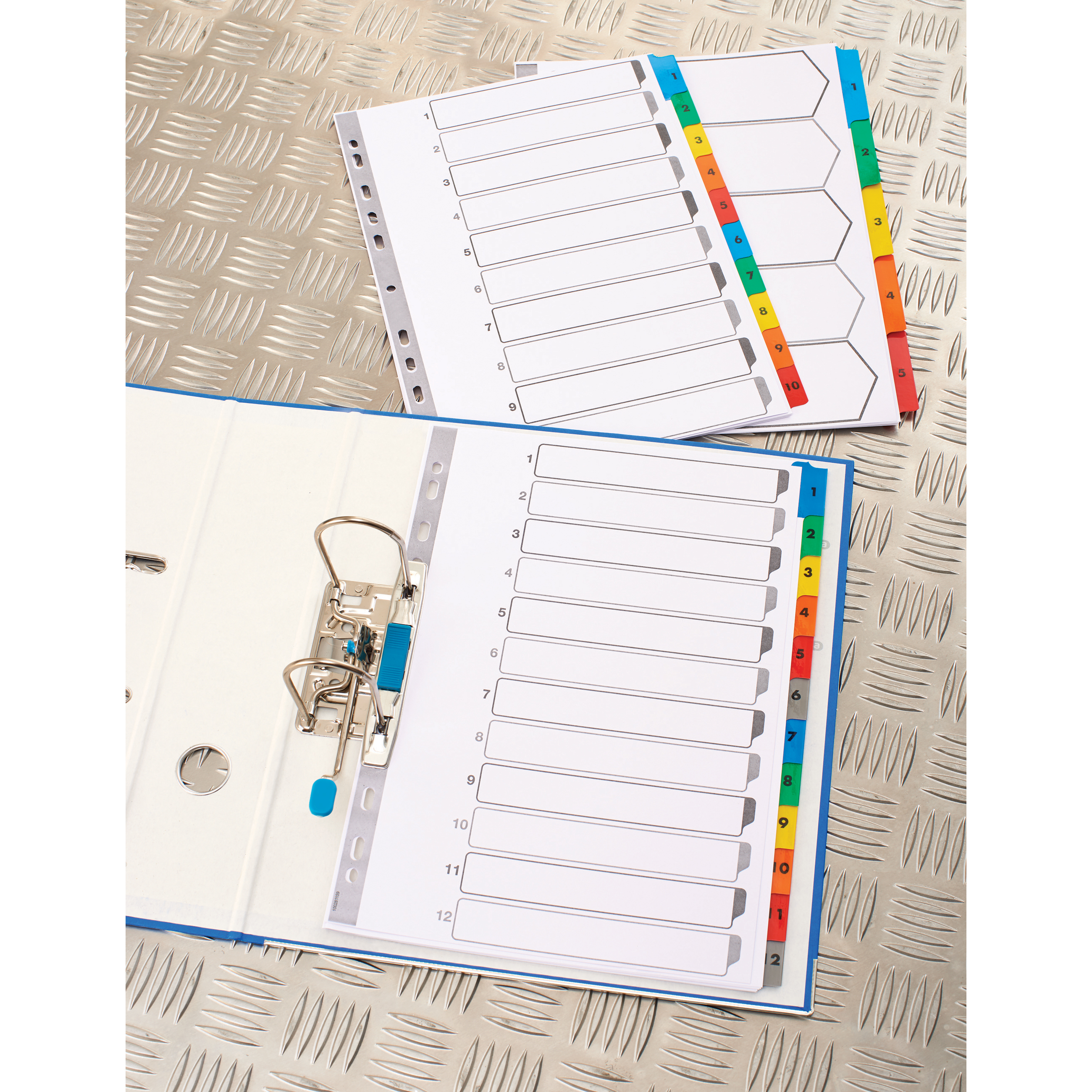 Elba Subject Divider 5-Part Multipunched Mylar-reinforced Multicolour-Tabs 170gsm A4 White Ref 100204963
