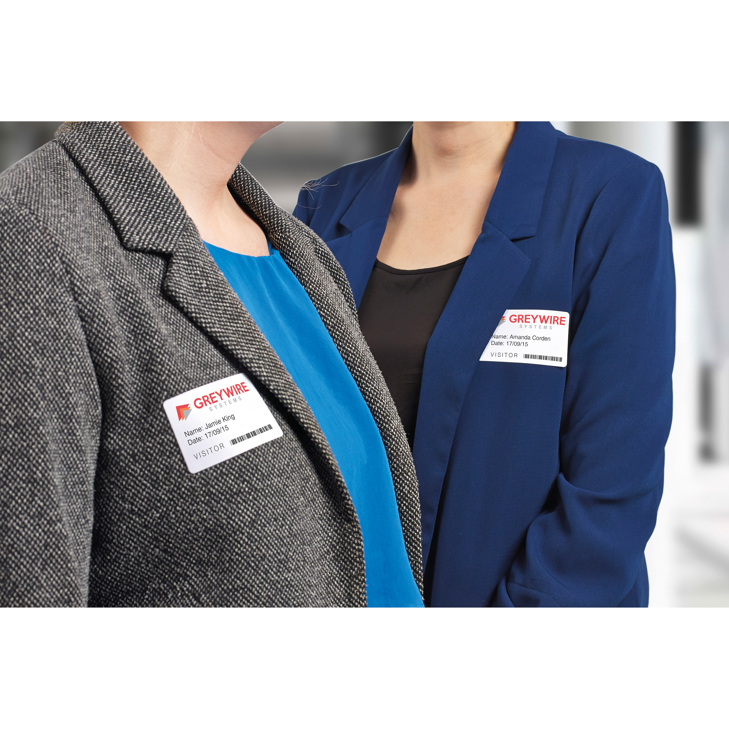 Avery Name Badge Labels Laser Self-adhesive 80x50mm Blue Border Ref L4787-20 [200 Labels]