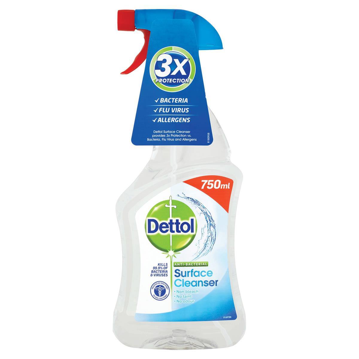 Image for Dettol Surface Cleanser Anti-Bacterial Spray 750ml Ref 14781