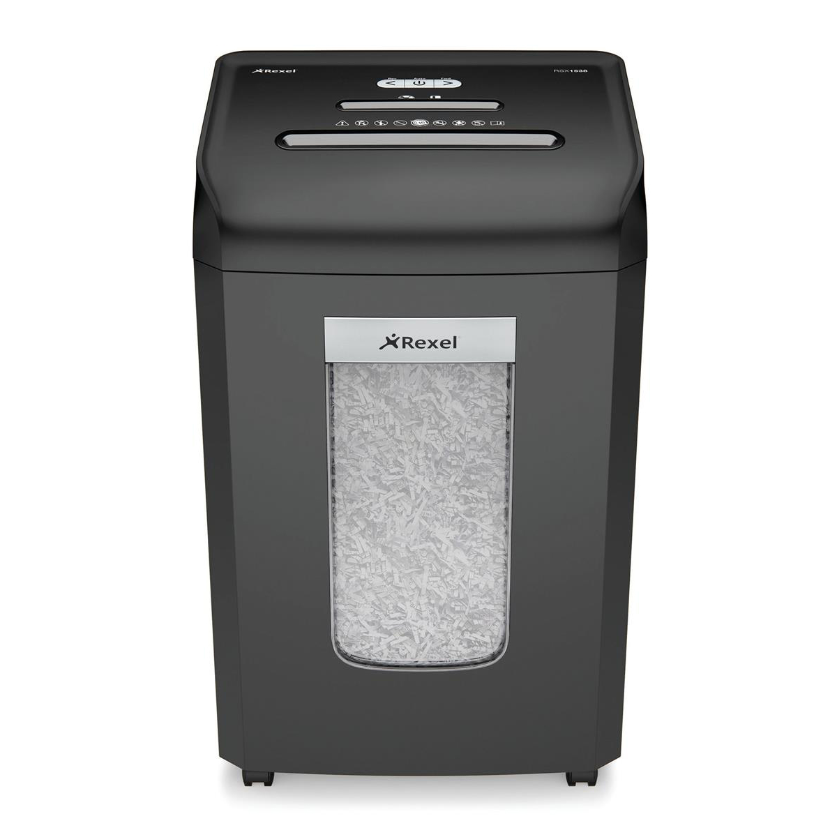 Rexel Promax RSX1538 Office Shredder Cross Cut P-4 4x35mm Grey Ref 2100890A
