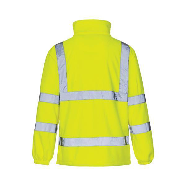 High-Vis Fleece Jacket Poly With Zip Fastening XL Yellow Ref CARFSYXL Approx 2/3 Day Leadtime