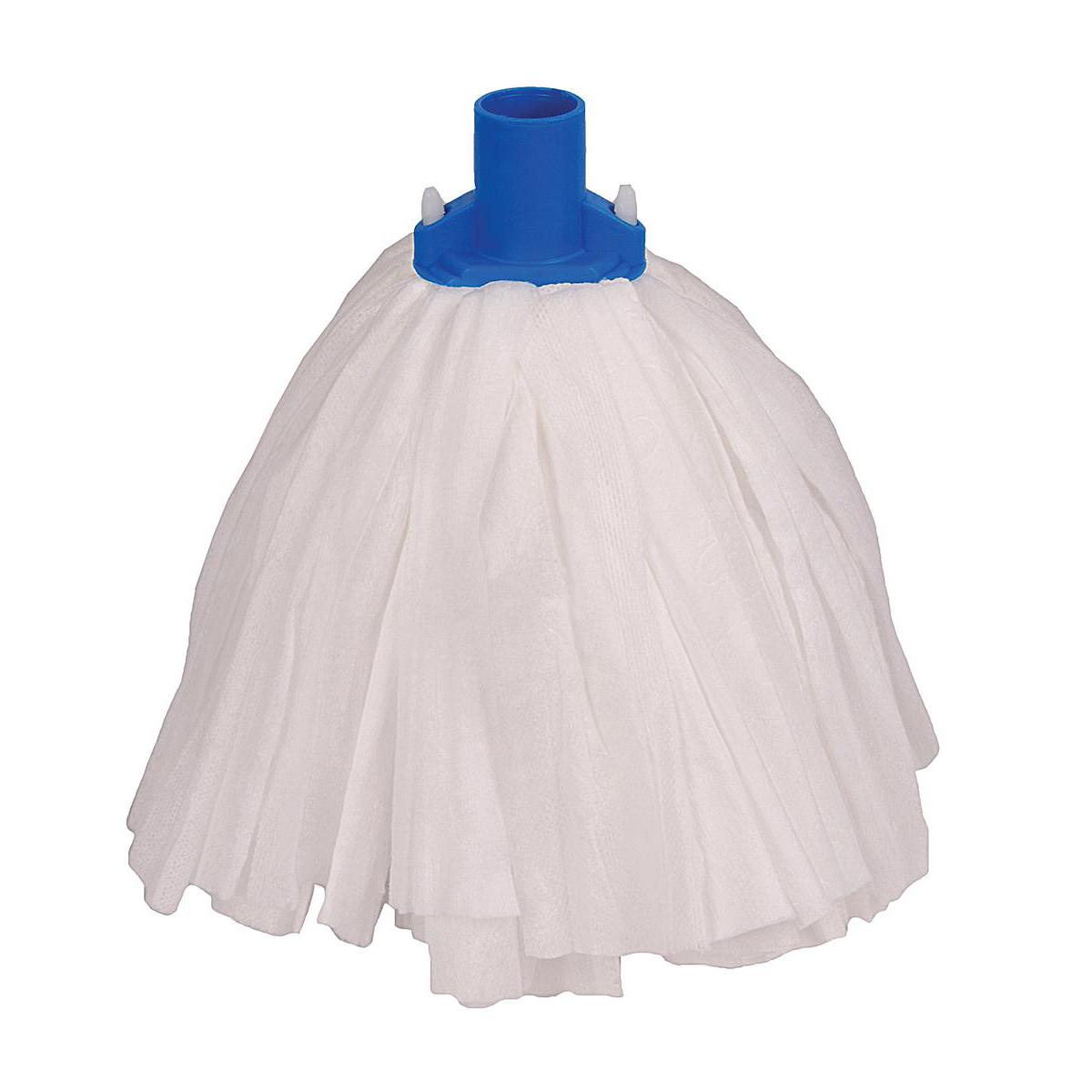 Robert Scott & Sons Big White Socket Mop T1 Non-woven Colour-coded Blue Ref 102211BLUE [Pack 10]