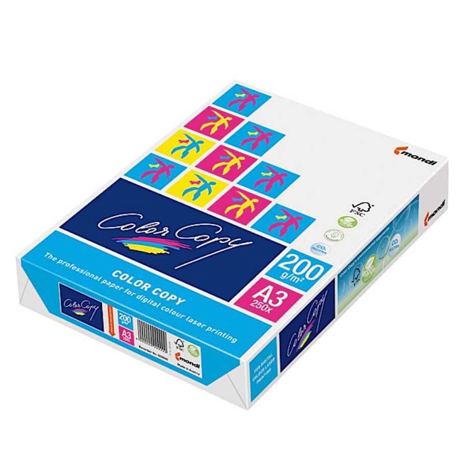 Color Copy Card Paper Premium Super Smooth A3 200gsm FSC White Ref COLA3200 250 Sheets
