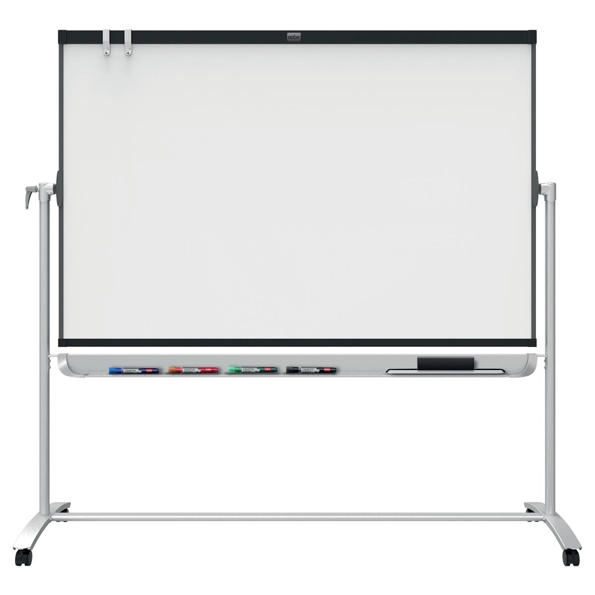 Nobo Classic Enamel Mobile Board Dual Sided Magnetic W1200xH900mm Steel Grey Ref 1901033