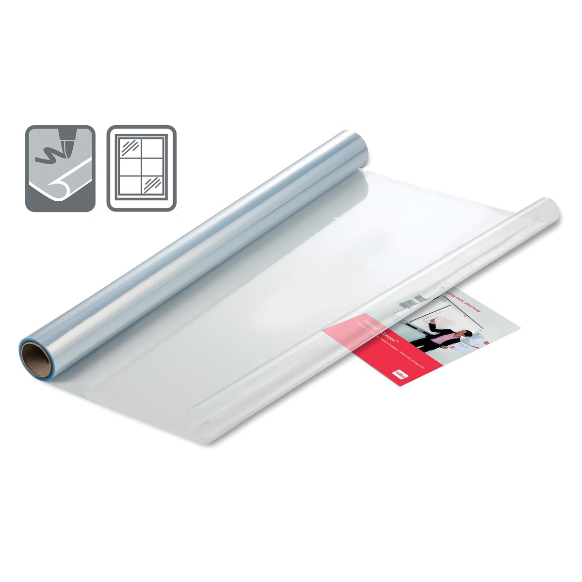Nobo Instant Film Whiteboard Reusable A1 Clear Ref 1905158 Roll 25 Sheets