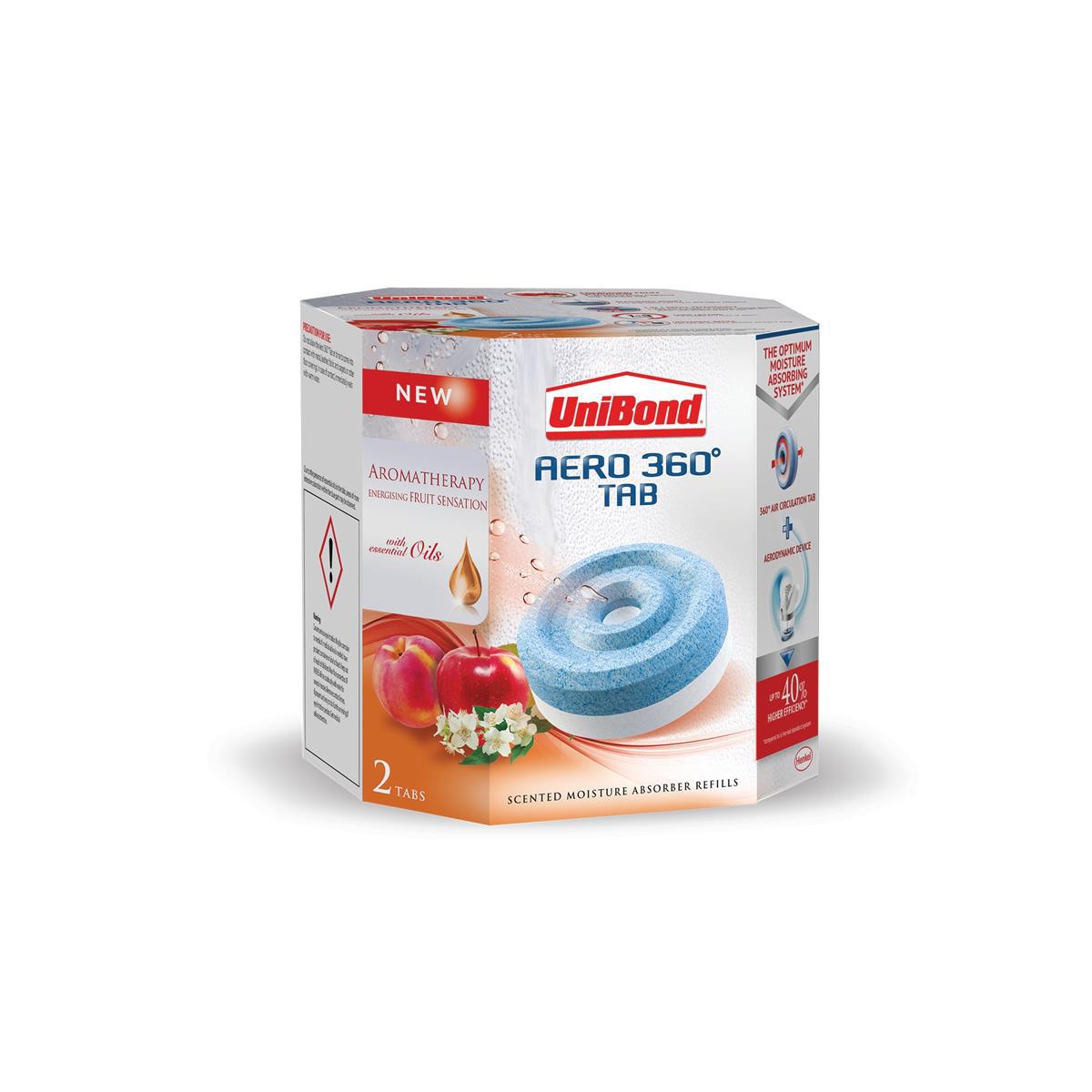 UniBond Aero 360 Moisture Absorber Refill Fruit Sense Ref 2091538 Pack 2