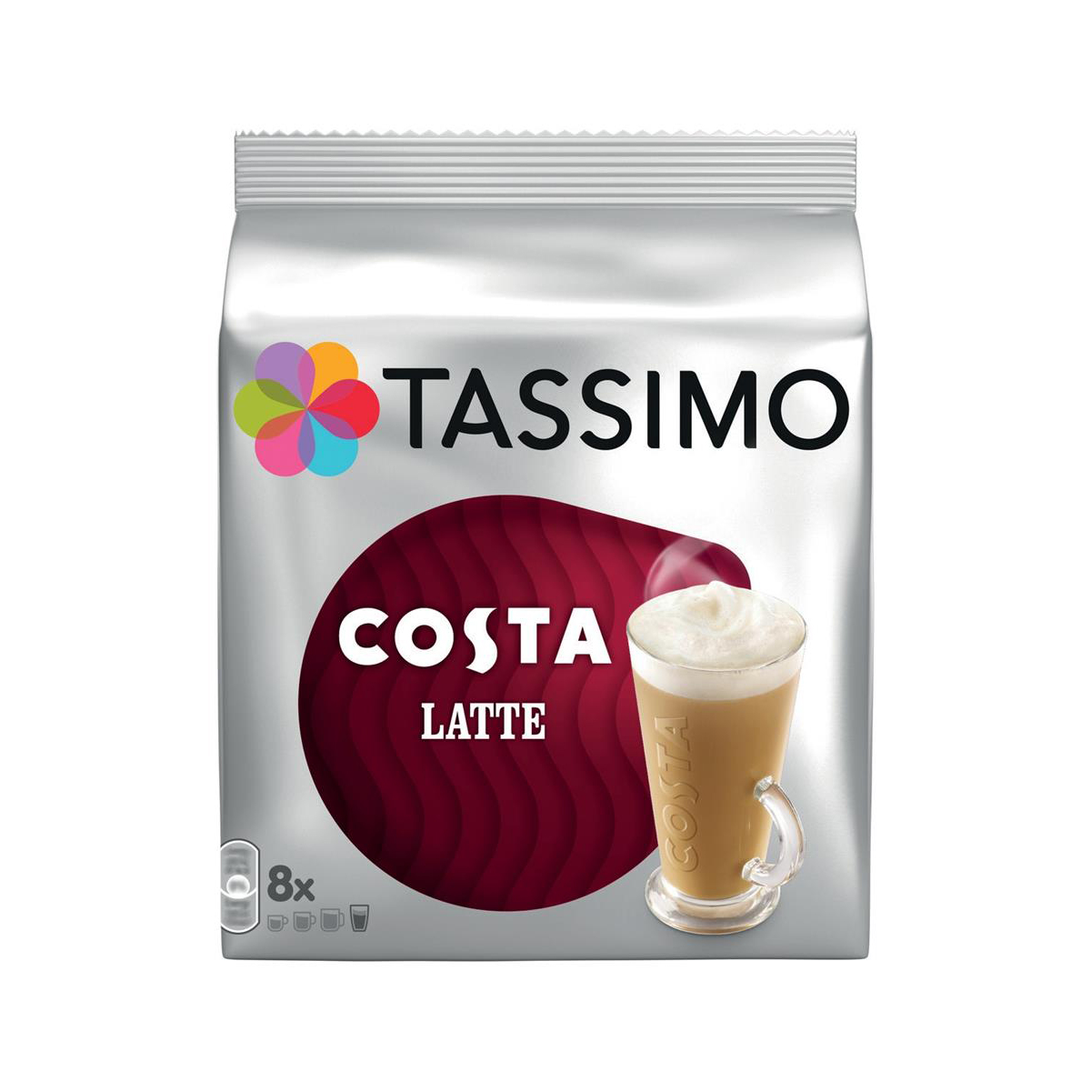 Tassimo Costa Latte Pods 8 Servings Per Pack Ref 4031635 [Pack 5 x 8]