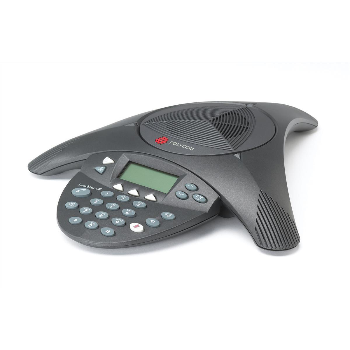 Telephones Polycom SoundStation2 Conference Phone Anti-Echo Full Duplex 8-10 Users 360 Deg Pickup Ref PB-PO2