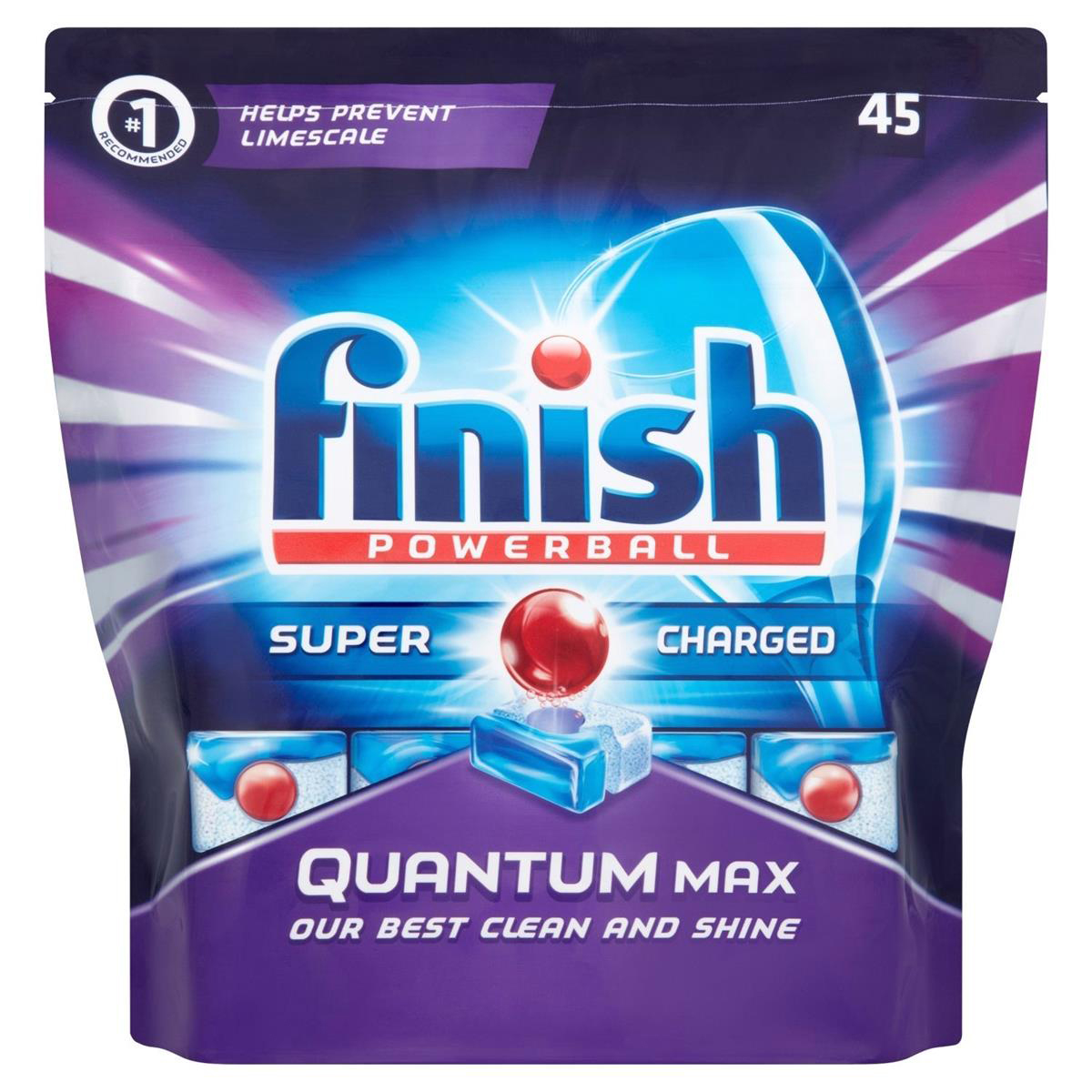 Finish Quantum Max Dishwasher Tablets Ref 3006193 [Pack 45]