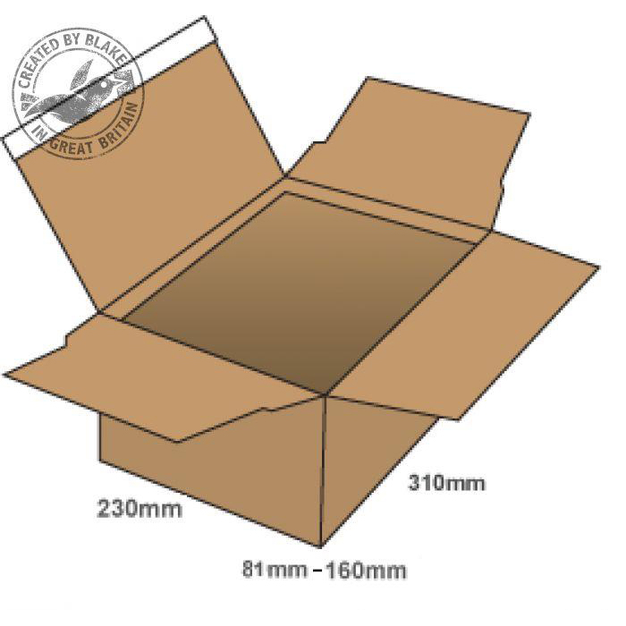 Blake Purely Packaging Postal Box P&S WxDxH 310x230x81mm Kraft Ref PEB40 [Pack 20]