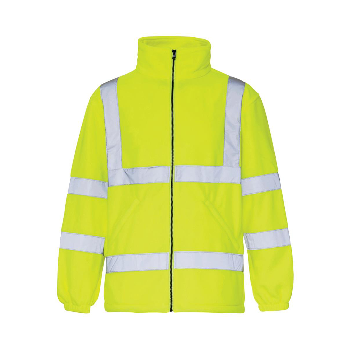 High Visibility Fleece Jacket Poly with Zip Fastening 2XL Yellow *Approx 2/3 Day Leadtime*