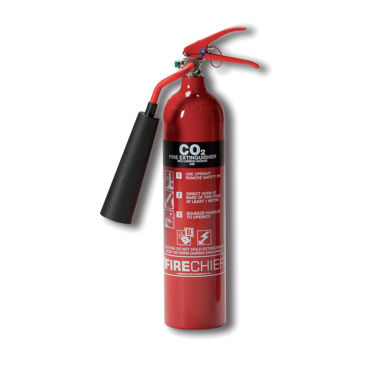 Co2 Firechief 2.0KG CO2 Fire Extinguisher for Class A B and E Fires Ref WG10128