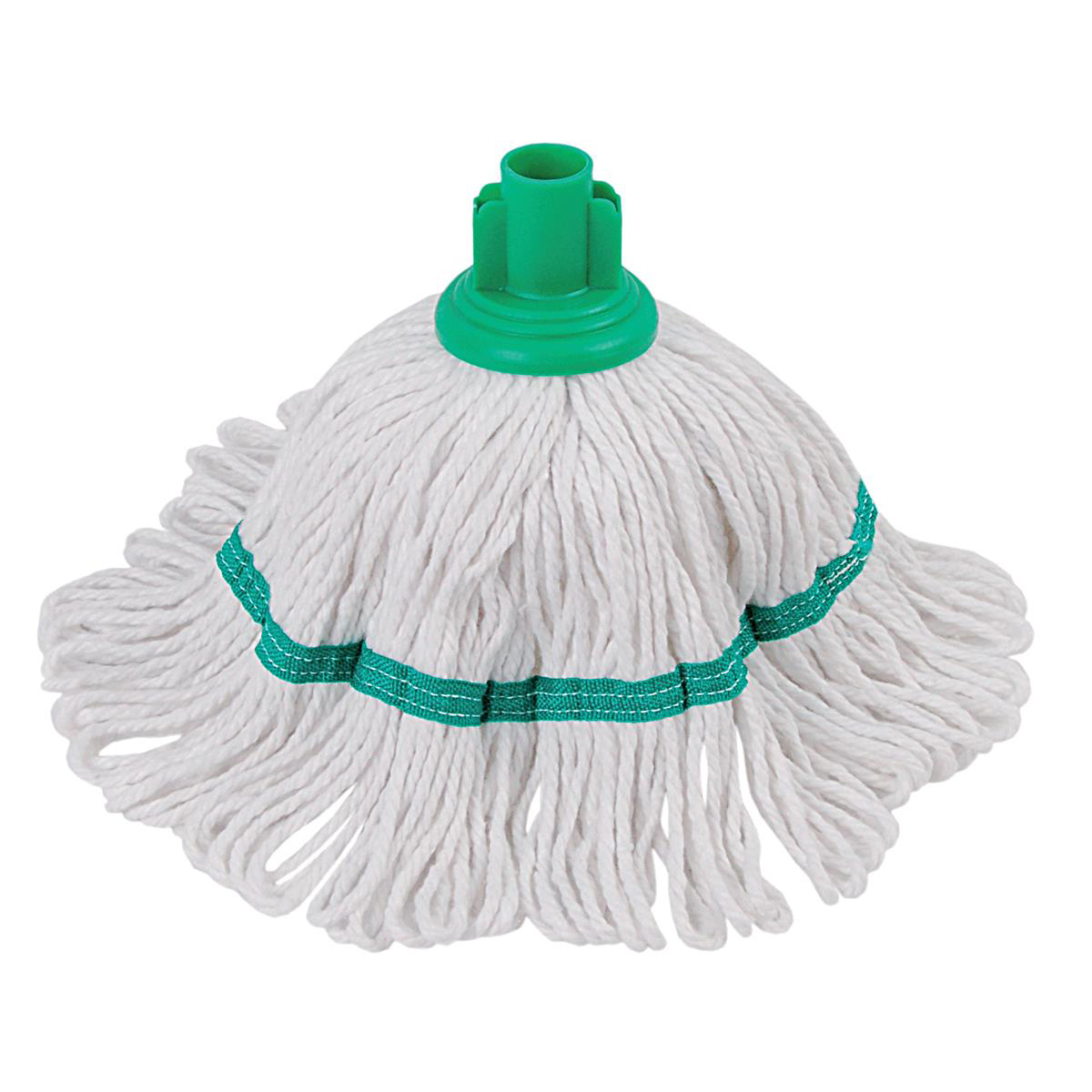 Mop heads Robert Scott & Sons Hygiemix T1 Socket Cotton & Synthetic Colour-coded Mop 200g Green Ref MHH200G