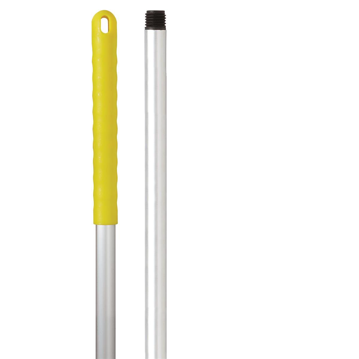 Broom or mop handles Robert Scott & Sons Abbey Hygiene Mop Handle Aluminium Colour-coded Screw 125cm Yellow Ref AH49Y