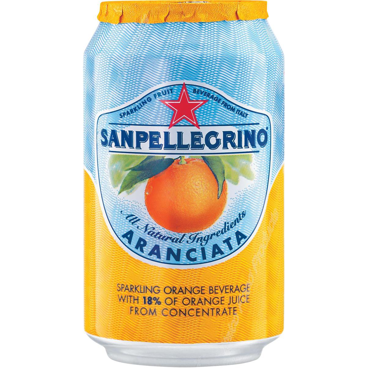 Cold Drinks San Pellegrino Sparkling Orange Citrus Soft Drink 330ml Can Ref N003998 Pack 24