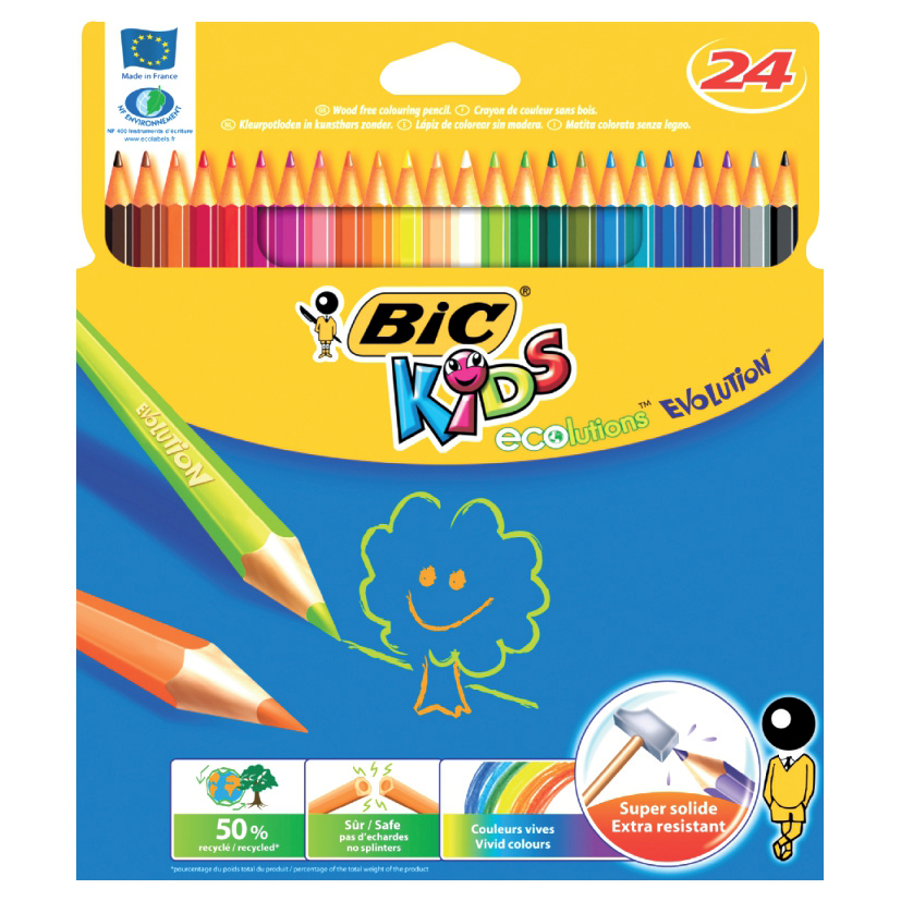 Bic Kids Evolution Colour Pencils Ref 829733 Pack 24