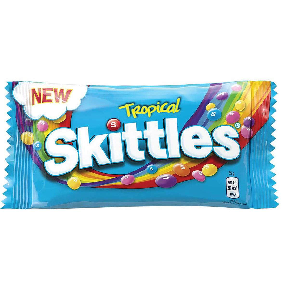 Skittles Tropical Bag 55g Ref 34593 Pack 36