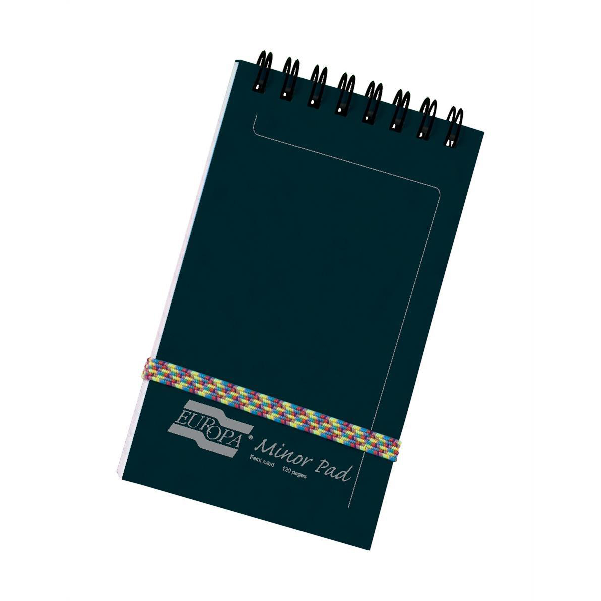 Europa Pad Twinwire Headbound 90gsm Ruled Micro Perforated 120pp 76x127mm Black Ref 3012Z Pack 10