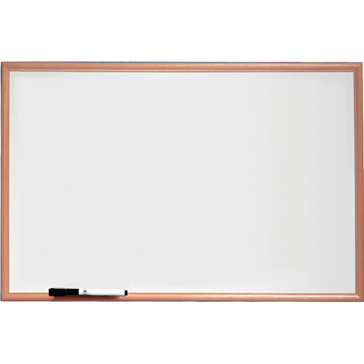 Nobo Basic Whiteboard Melamine Surface Non-magnetic Pine Trim W900xH600mm White Ref 1905200