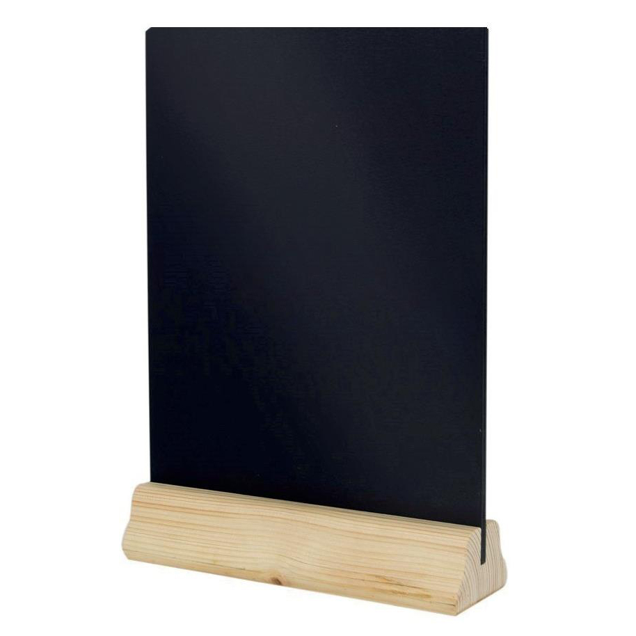 Image for Table Chalkboard Double Sided Chalk Panels Wooden A4 W310xD230xH60mm Black