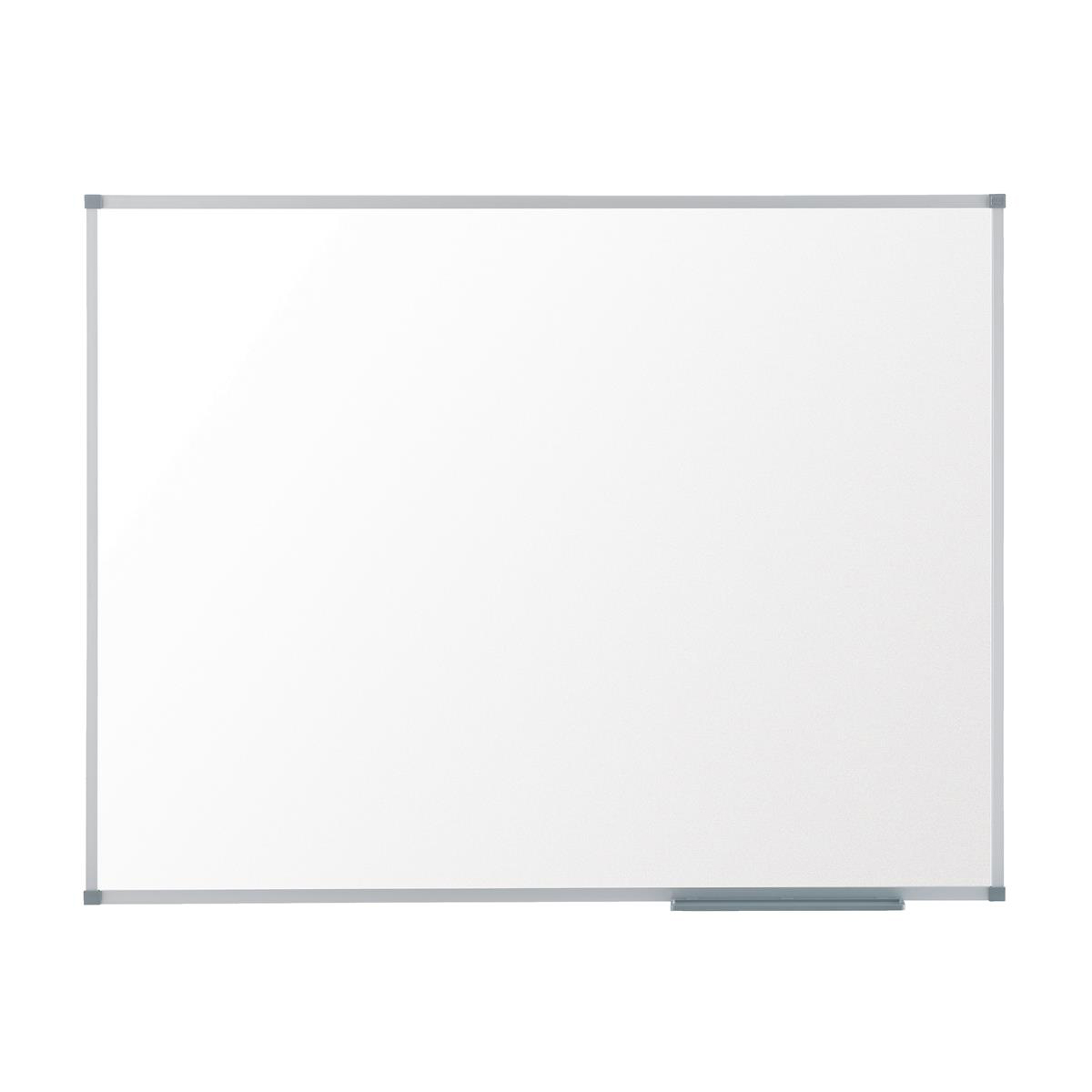 Non-Magnetic Nobo Classic Whiteboard Melamine Surface Non-magnetic Aluminium Trim W900xH600mm White Ref 1905202