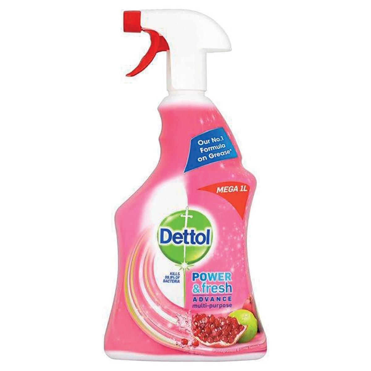 Image for Dettol Power Fresh Pomegranate Antibacterial Multi Purpose Cleaner Trigger Spray 1 Litre Ref 3007938