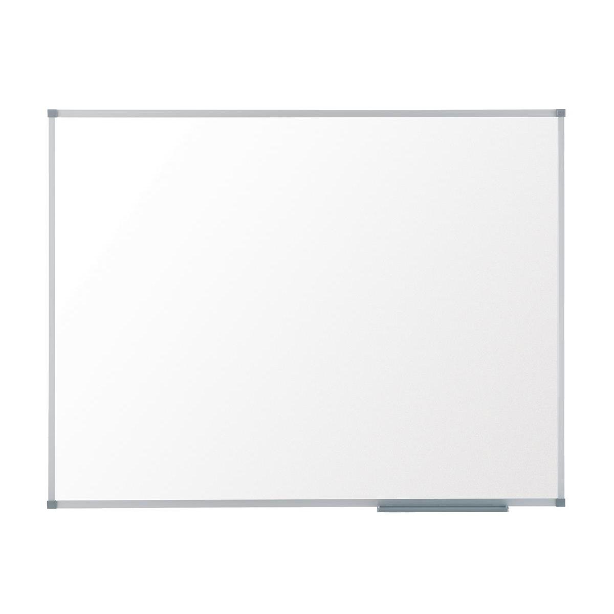 Nobo Basic Whiteboard Melamine Surface Non-magnetic Aluminium Trim W600xH450mm White Ref 1905201