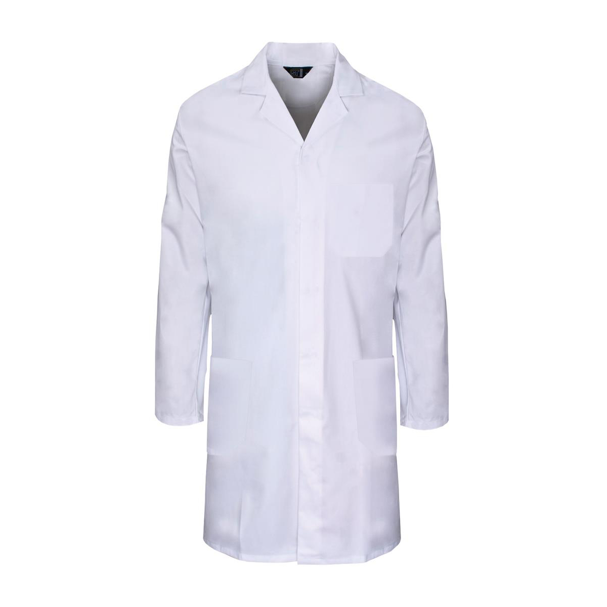 Supertouch Lab Coat Polycotton with 3 Pockets Medium White Ref 57002 *Approx 3 Day Leadtime*