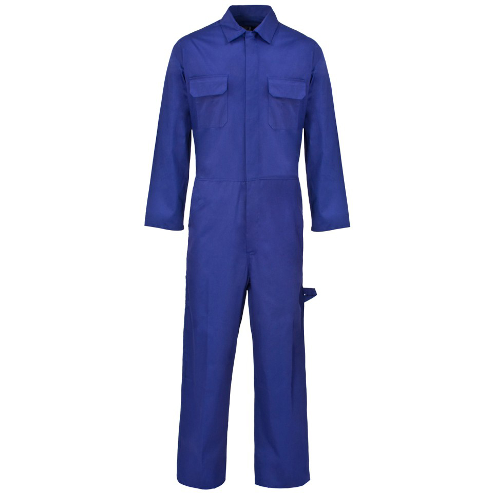 Coveralls / Overalls Coverall Basic with Popper Front Opening Polycotton Medium Navy Ref RPCBSN40 *Approx 3 Day Leadtime*