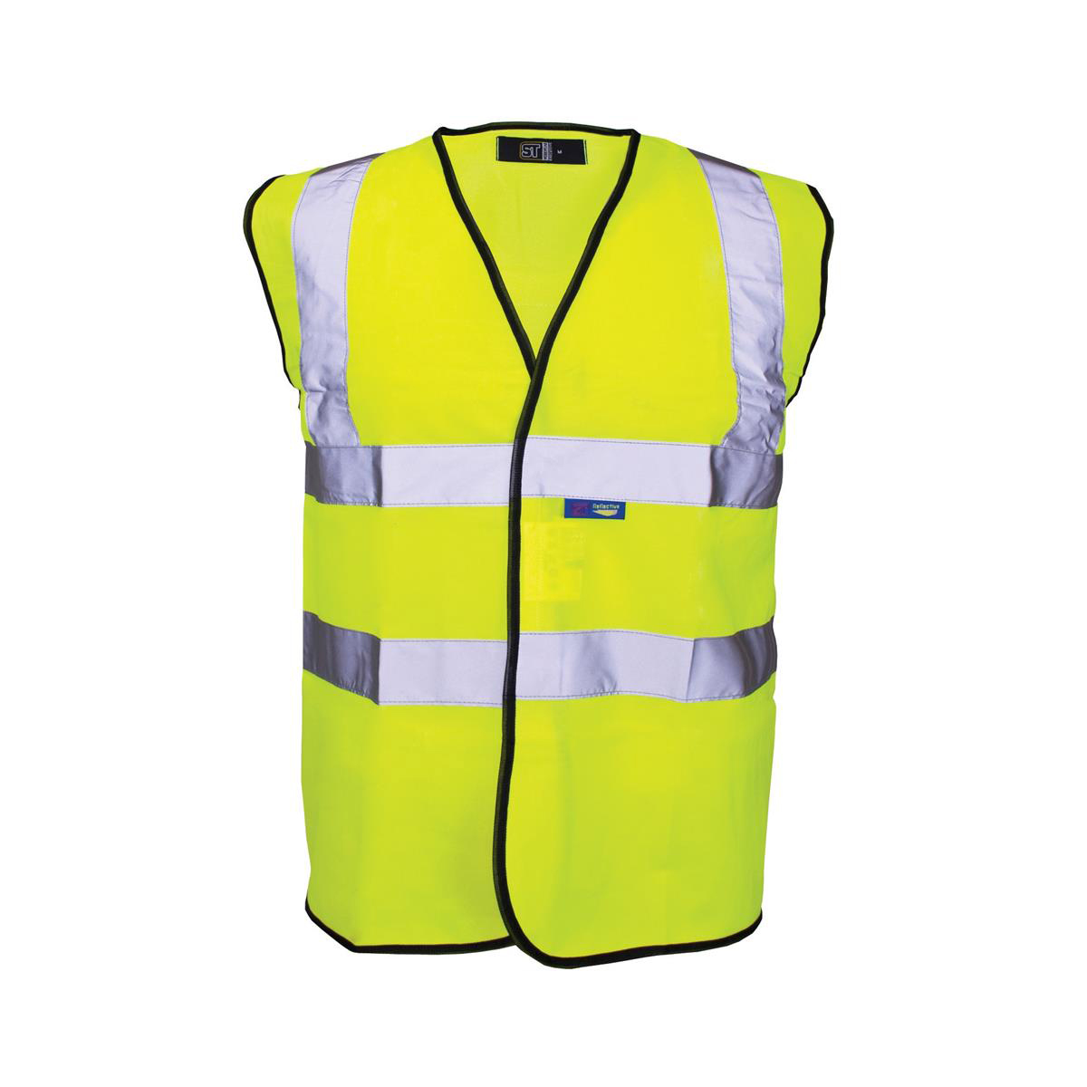 High Visibility Vest Polyester Yellow With Black Piping Large Approx 2/3 Day Lead Time