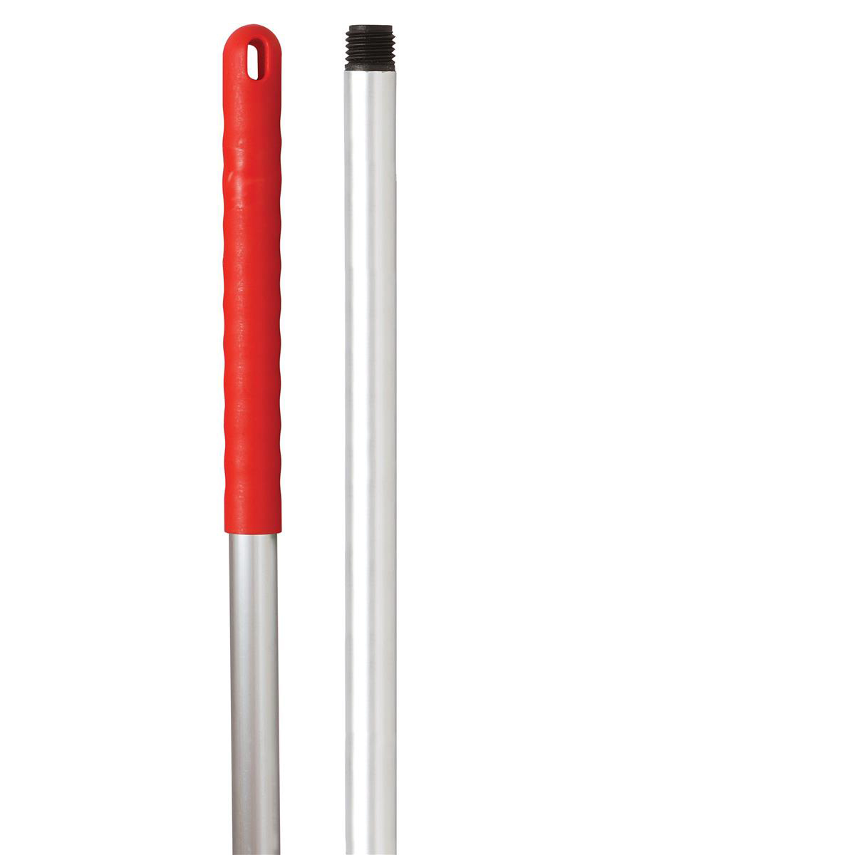 Broom or mop handles Robert Scott & Sons Abbey Hygiene Mop Handle Aluminium Colour-coded Screw 125cm Red Ref AH49Y