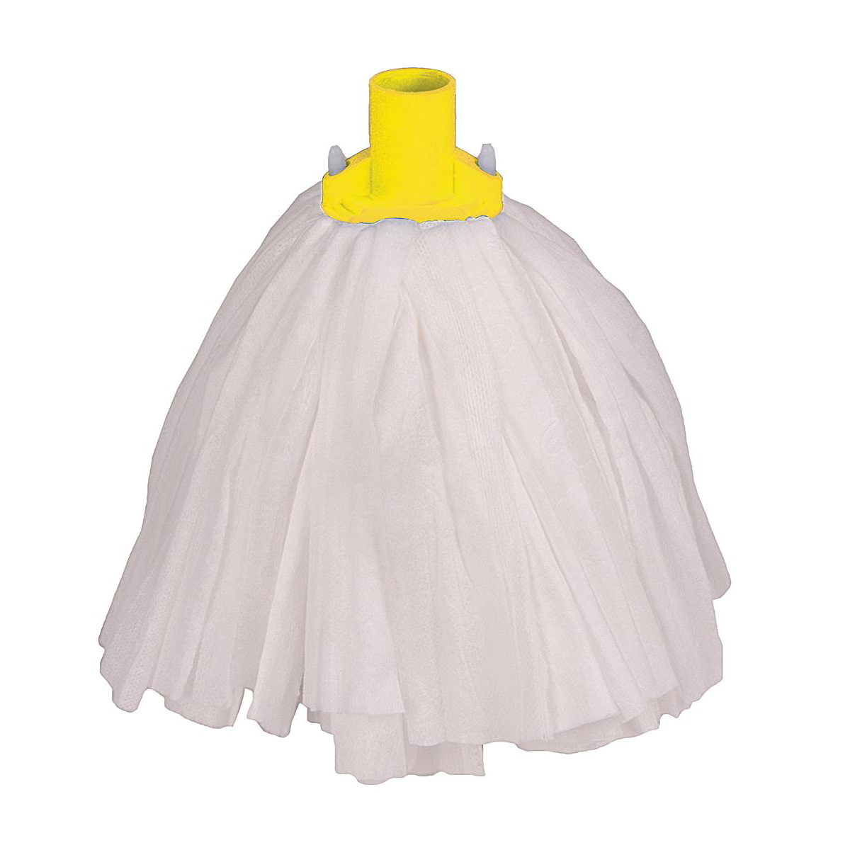 Robert Scott & Sons Big White Socket Mop T1 Non-woven Colour-coded Yellow Ref 102211YELLOW [Pack 10]